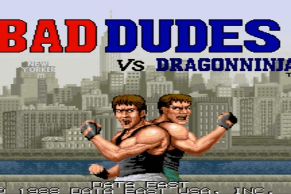Bad Dudes vs DragonNinja 16 bit games example